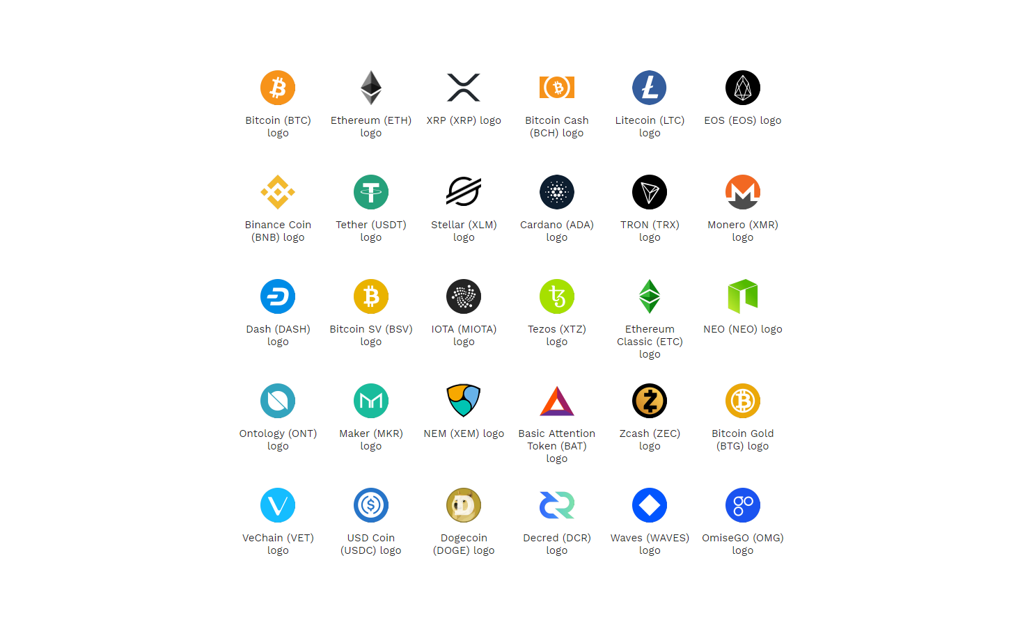 Crypto Logos - Cryptocurrency Logo Files ( SVG &  PNG) Download